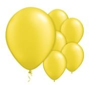 Qualatex Jewel Citrine Yellow Balloons Juweel Citrus Geel Ballonnen 100st 27cm