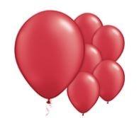 Qualatex Jewel Ruby Red Balloons Juweel Robijn Rood Ballonnen 100st 12cm