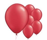 Qualatex Jewel Ruby Red Balloon Juweel Robijn Rood Ballonnen 100st 27cm