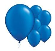Qualatex Jewel Sapphire Blue Balloons Juweel Saffier Blauwe Ballonnen 100st 27cm