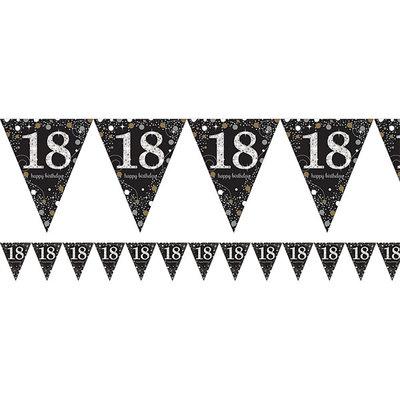 Sprankelende 18e Verjaardag Vlaggenlijn 4m