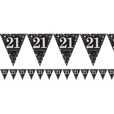 Sprankelende 21e Verjaardag Vlaggenlijn 4m