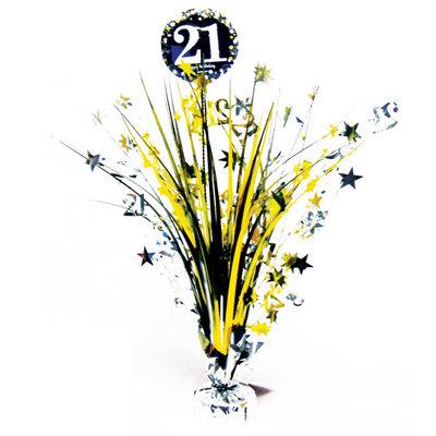 Sprankelende 21e Verjaardag Tafeldecoratie 46cm