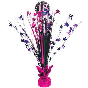 Sprankelende Roze 18e Verjaardag Tafeldecoratie 46cm