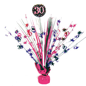 Sprankelende Roze 30e Verjaardag Tafeldecoratie 46cm