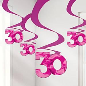 Roze 30 Hangkrullen 5st