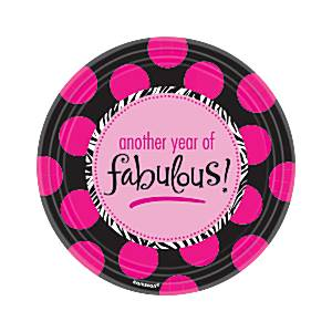 Fabulous Roze Polkadot Papieren Dessert Borden 8st