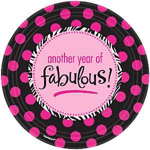 Fabulous Roze Polkadot Papieren Borden 8st