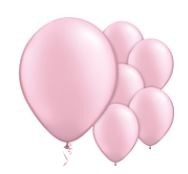 Qualatex Pearl Pink Balloons Parelmoer Roze Ballonnen 100st 27cm