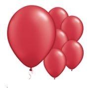 Qualatex Pearl Ruby Red Balloons Parelmoer Robijn Rood Ballonnen 100st 27cm