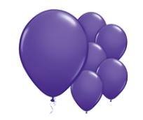 Qualatex Purple Violet Balloons Paars Violet Ballonnen 100st 27cm