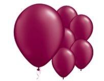 Qualatex Pearl Burgundy Balloons Parelmoer Burgundy Ballonnen 100st 12cm