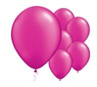 Qualatex Pearl Magenta Balloons Parelmoer Magenta Ballonnen 100st 12cm
