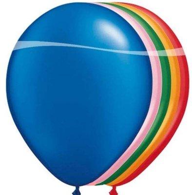Qualatex Gekleurde Latex Ballonnen 100st 27cm Assorti.