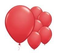 Qualatex Red Balloons Rood Ballonnen 100st 27cm