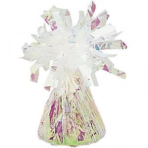 Wit met Regenboog Gloed Folie Ballongewichtje