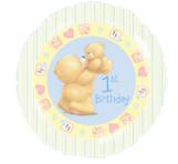 ForeverFriends jongen 1e verjaardag Folie Ballon 45cm