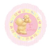 ForeverFriends meisje 1e verjaardag Folie Ballon 45cm