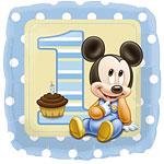 Baby Mickey Vierkante Folie Ballon 45cm