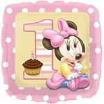 Baby Minnie Vierkante Folie Ballon 45cm