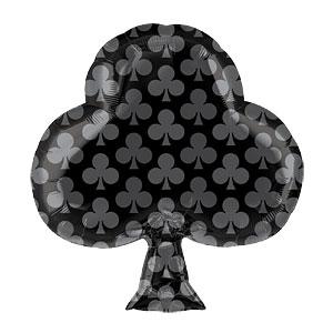 Zwarte Klaver Folie Ballon 48cm