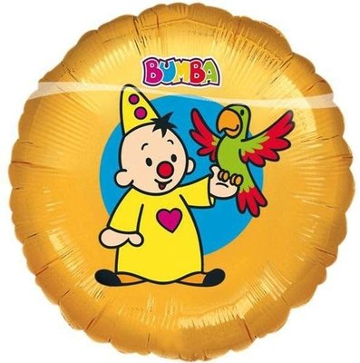 Bumba Geel Folie Ballon 45cm