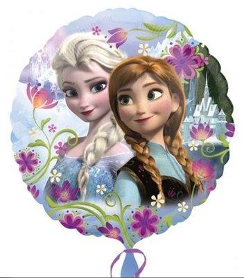 Frozen Anna en Elsa Folie Ballon 45cm