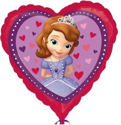 Prinses Sofia Hart Folie Ballon 45cm