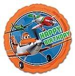 Planes Oranje Folie Ballon 45cm