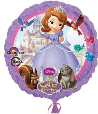 Prinses Sofia Folie Ballon 45cm