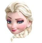 Frozen Elsa Masker Karton