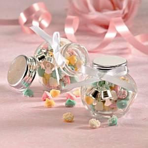 Mini Glazen Traktatie Potjes 12st