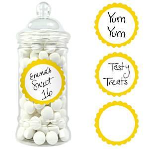 Zoete Labels Geel 20st