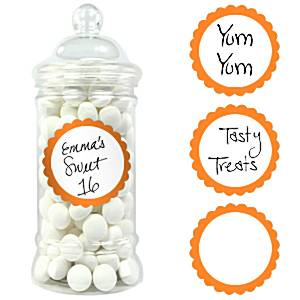 Zoete Labels Oranje 20st