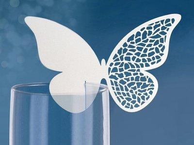 Vlinder met Patroon Glas Plaatskaarten 10st