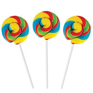 Regenboog Mini Spiraal Lolly's met Fruitsmaak 50st