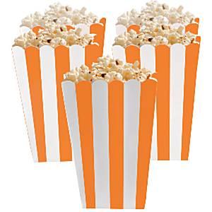 Oranje Strepen Popcorn Bak 5st