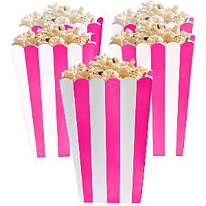 Fel Roze Strepen Popcorn Bak 5st
