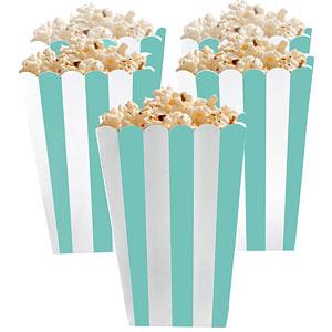 Robin's Ei Blauw Strepen Popcorn Bak 5st