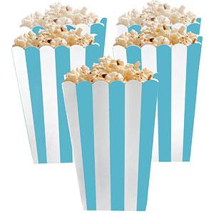 Caribisch Blauw Strepen Popcorn Bak 5st