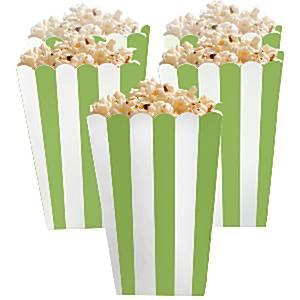 Groen Strepen Popcorn Bak 5st