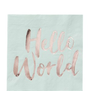 Hello World Tafel Servetten 20st
