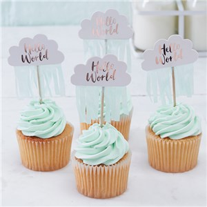 Hello World Cupcake Prikkers 10st