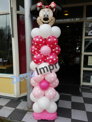 Minnie Mouse Bloemenpatroon Ballonnenpilaar