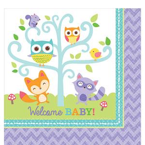 Woodland Baby Tafel Servetten 16st