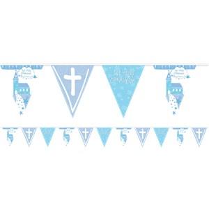 Blauw Communie Kerk Vlaggenlijn 2m