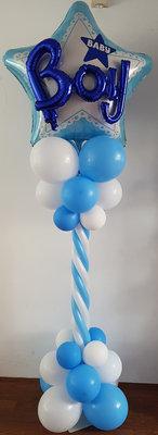 Blauw Ster 3D 'Boy' Luxe Ballonnenpilaar