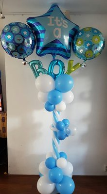 Blauw Sterren 'It's A Boy' Luxe Ballonnenpilaar