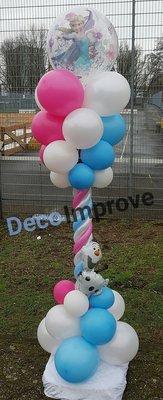 Frozen Bubble Luxe Ballonnenpilaar voor Buiten
