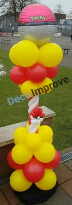 Pokemon Pokeball Luxe Ballonnenpilaar voor Buiten